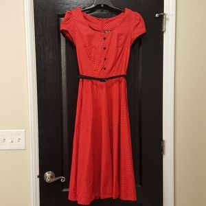 Stop Staring Red Pin-Up Style Dress
